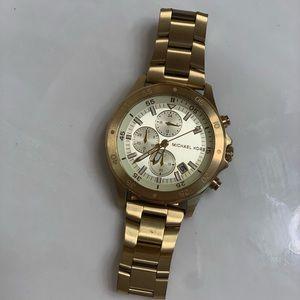 Men's Michael Kors gold watch